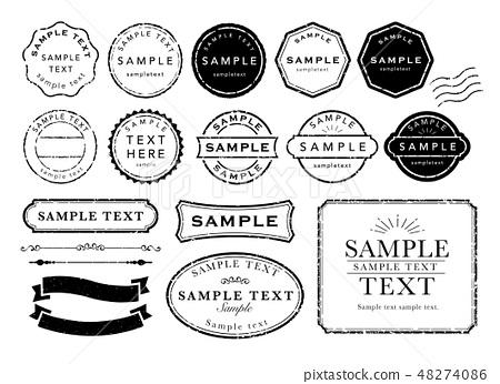 復古郵票和幀 48274086
