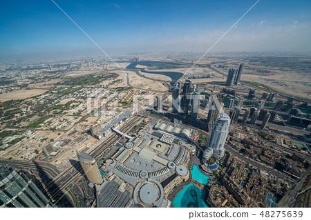 [迪拜城市景觀]哈利法塔的壯麗景色 48275639