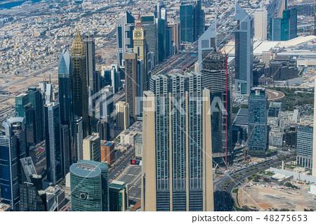 [迪拜城市景觀]哈利法塔的壯麗景色 48275653