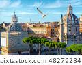 Trajan column in Rome 48279284