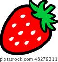 딸기 1 개 48279311