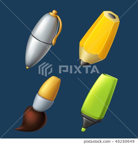 writing and drawing tools set 48280649