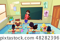 Angry Nervous Teacher Cartoon Vector Concept 48282396