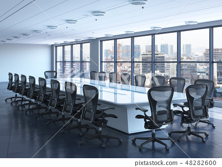 Office Photorealistic Render. 3D illustration. Meeting room. 48282600