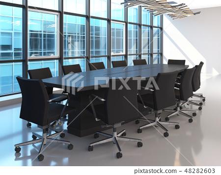 Office Photorealistic Render. 3D illustration. Meeting room. 48282603
