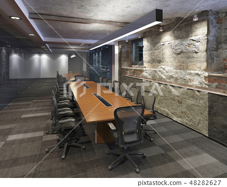 Office Photorealistic Render. 3D illustration. Meeting room. 48282627