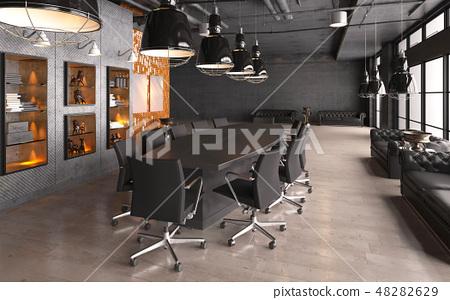 Office Photorealistic Render. 3D illustration. Meeting room. 48282629
