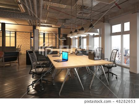 Office Photorealistic Render. 3D illustration. Meeting room. 48282653