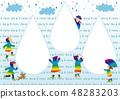 เด็ก 4 ในวันที่ฝนตก (เด็กและหยด) 48283203