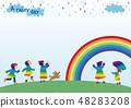เด็ก 3 ในวันที่ฝนตก (เด็กและสายรุ้ง) 48283208