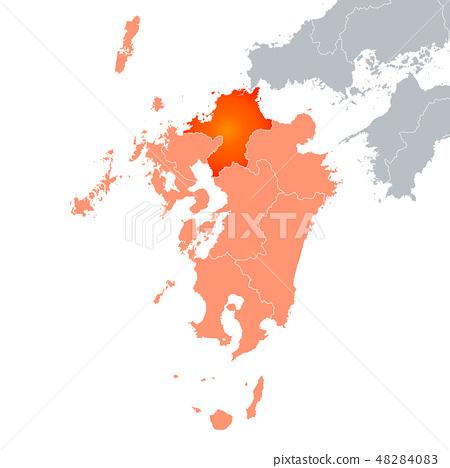 후쿠오카 현지도와 큐슈 지방 48284083