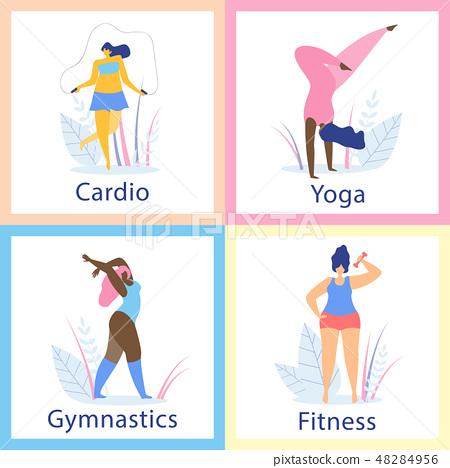 Attractive Overweight Women Healthy Lifestyle. 48284956