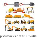 Set of construction vehicles 48285486