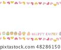 复活节设计素材。鸡蛋的例证。季节剪贴画。 48286150