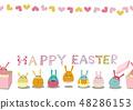 复活节设计素材。鸡蛋的例证。季节剪贴画。 48286153