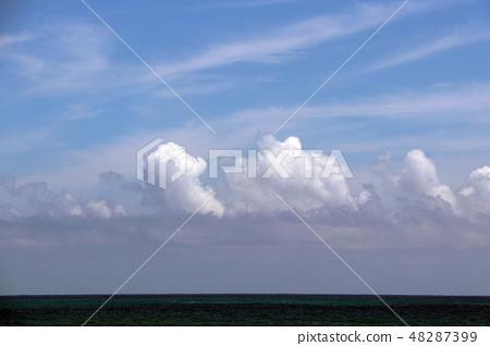 Pacific beautiful sky sea of clouds 48287399