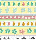 春天的形象。无缝壁纸材料。包装纸的装饰。 48287697