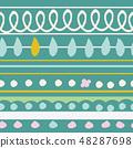春天的形象。无缝壁纸材料。包装纸的装饰。 48287698