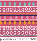 春天的形象。无缝壁纸材料。包装纸的装饰。 48287699