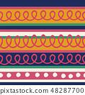 春天的形象。无缝壁纸材料。包装纸的装饰。 48287700