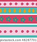 春天的形象。无缝壁纸材料。包装纸的装饰。 48287701