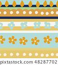 春天的形象。无缝壁纸材料。包装纸的装饰。 48287702