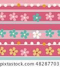 春天的形象。无缝壁纸材料。包装纸的装饰。 48287703