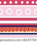 春天的形象。无缝壁纸材料。包装纸的装饰。 48287704