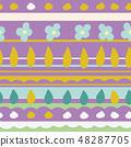 春天的形象。无缝壁纸材料。包装纸的装饰。 48287705