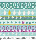 春天的形象。无缝壁纸材料。包装纸的装饰。 48287706
