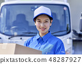 Business scene delivery woman driver 48287927
