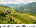 Longsheng rice terraces landscape in China 48295544
