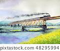 SL Bunka Monogatari SL蒸汽機車C 57-180 Okojo觀察車輛大正羅馬 48295994