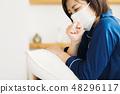 감기 감기 아픈 여성 48296117