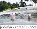 Fishermen with fishing net 48297220