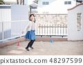 孩子們打羽毛球 48297599