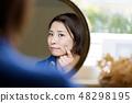 미용 세안 거울 여성 고민 48298195
