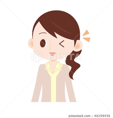 노란색 셔츠 베이지 가디건 여성 윙크 48299436