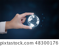 Hand present world graphic 48300176