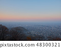 The beautiful city view point before sunset and th 48300321