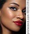 Young beautiful black woman with evening makeup 48301391