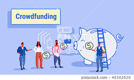 businesspeople group investment money investor crowdfunding concept business people investing dollar 48302620