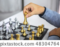 Planning and Strategic concept, Businessman playing chess and th 48304764