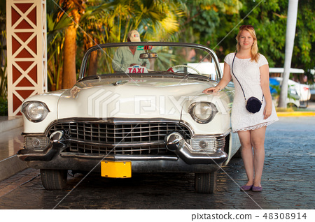 Young blonde woman at summer 48308914