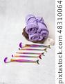 Set of mermaid tail make-up brushes. Make up tools female 48310064