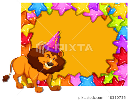 party lion invitation card 48310736