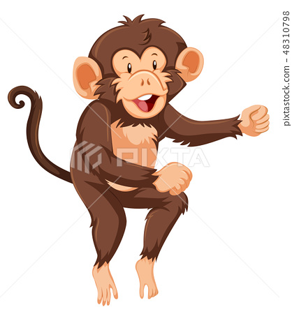 A monkey character on white background 48310798