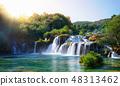 Krka Waterfalls on the Krka river, Croatia. 48313462