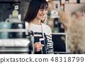 Asia Barista waiter use tablet take order 48318799