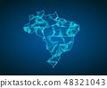 巴西 地图 矢量 48321043